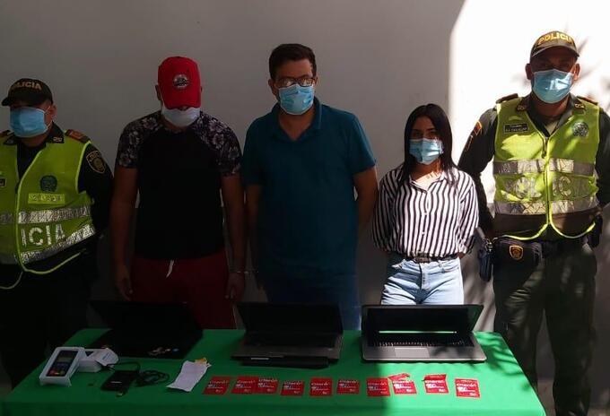 Capturados por delitos informáticos.