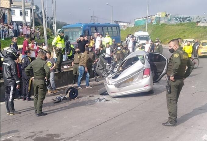 Accidente en el sur de Bogotá