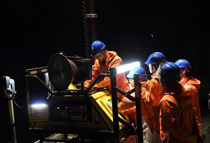 Mineros atrapados en China