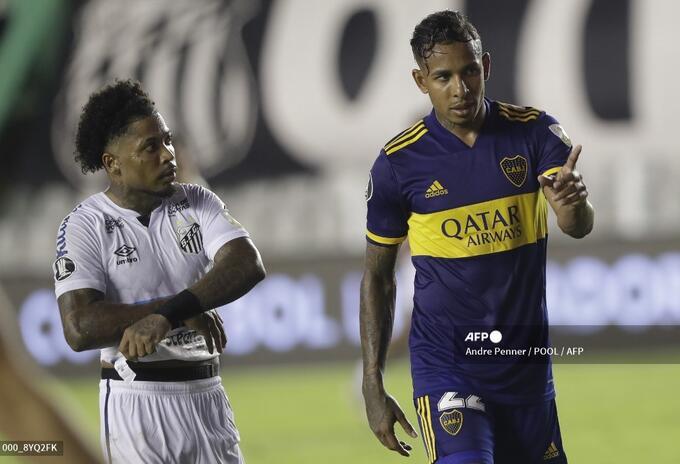 Sebastián Villa, en la derrota de Boca