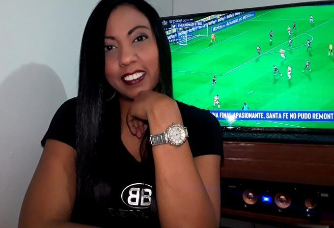 Narradora de fútbol en Colombia