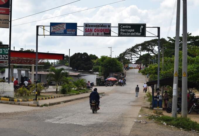 Perímetro urbano de San Onofre.