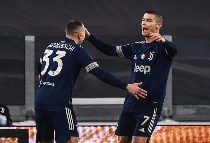 Cristiano Ronaldo marcó el gol con Juventus
