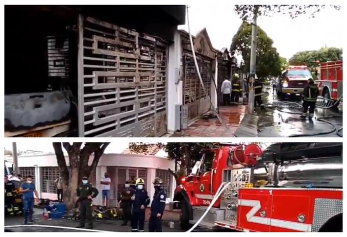 Incendio en vivienda de Cúcuta