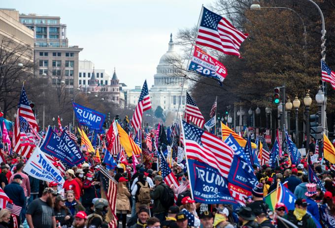 Manifestaciones a favor de Donald Trump
