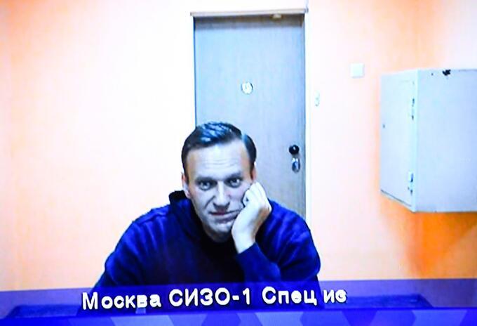 Alexéi Navalni, opositor ruso en centro de detención