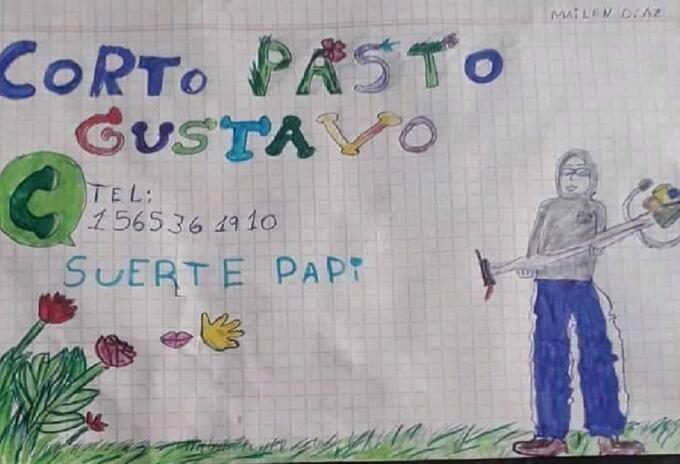 Niña en Argentina hace dibujo para que su padre consiga trabajo