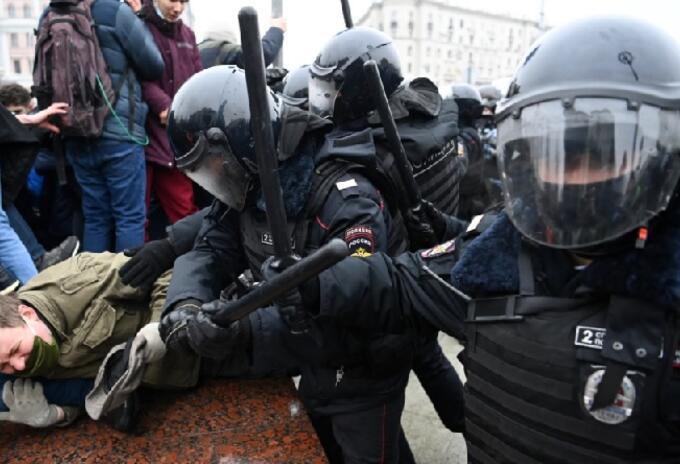 Protestas en Rusia.