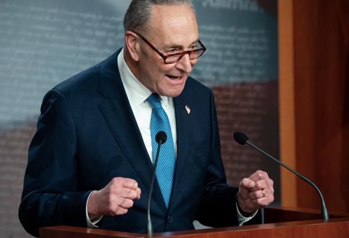 Líder demócrata del Senado de EE.UU., Chuck Schumer