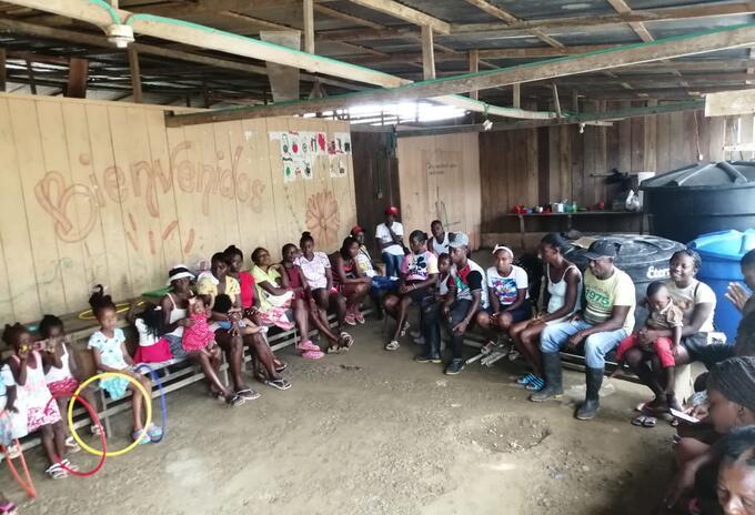 Los desplazados se encuentran en un albergue en el municipios de Roberto Payán