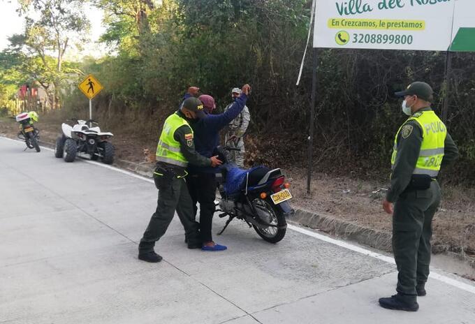 Policía de Bolívar se traslada al corregimiento del Salado para liderar comando situacional