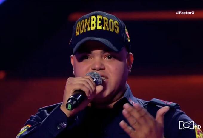 Zair, el bombero cantante del Factor X