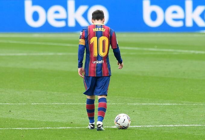 Lionel Messi después del partido contra Cádiz