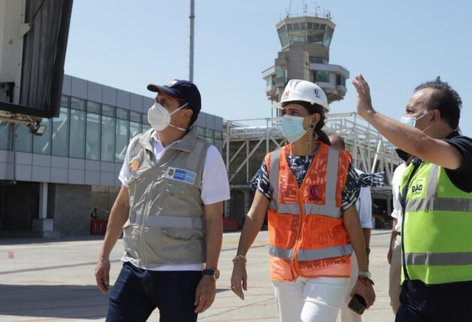 Verificación de avance de obras en el aeropuerto Ernesto Cortissoz de Barranquilla