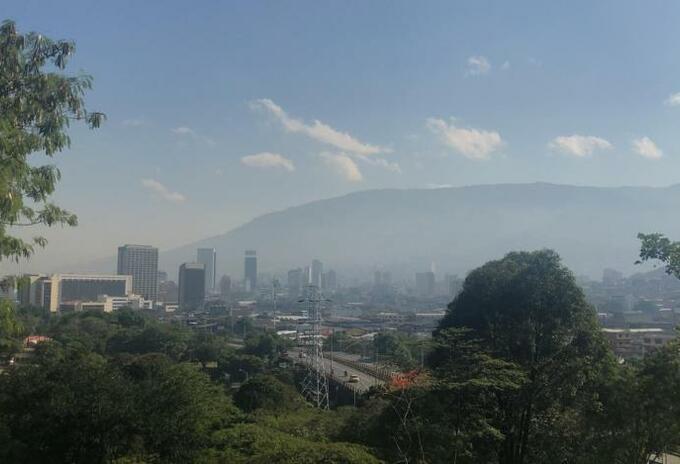 Mala calidad del aire en Medellín (episodio de contingencia el año anterior).