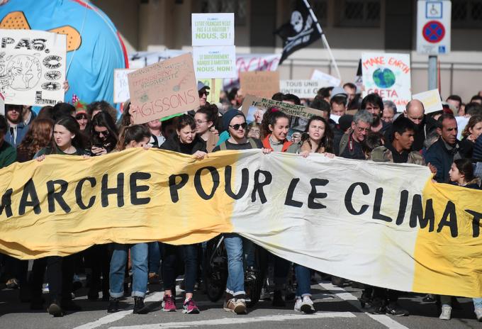 Marcha por el clima en Francia