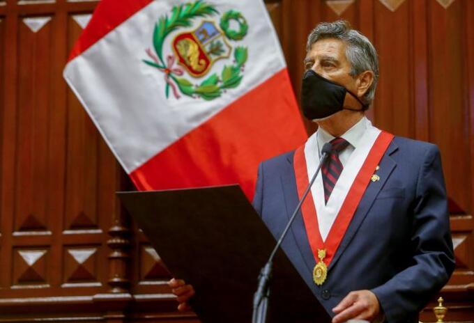 Francisco Sagasti, presidente interino del Perú