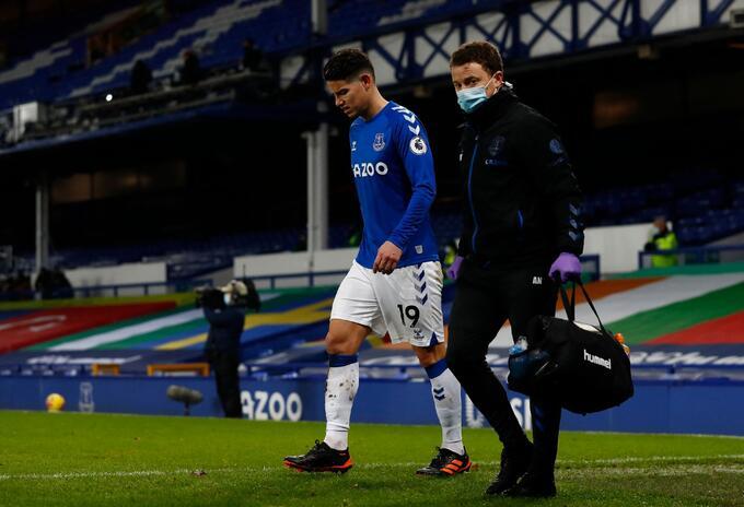 James Rodríguez con Everton