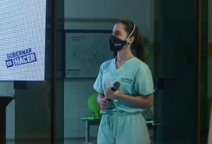 Ella será una de las primeras enfermeras en vacunarse