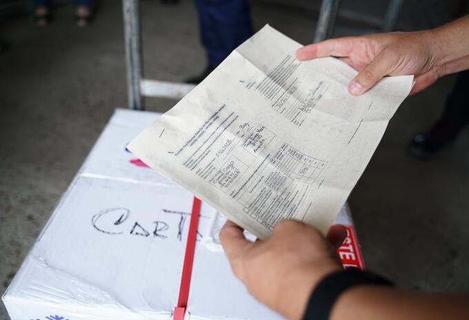 Llegaron las vacunas a Cartagena