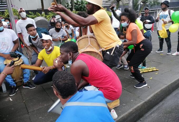 Marcha Buenaventura contra la violencia