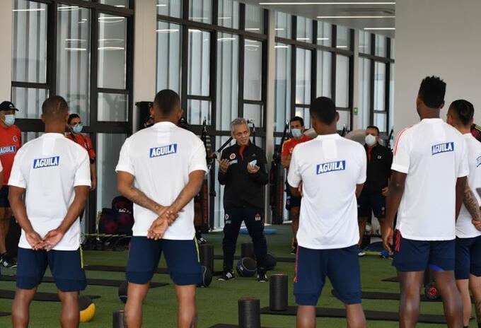 Primer entrenamiento de Reinaldo Rueda