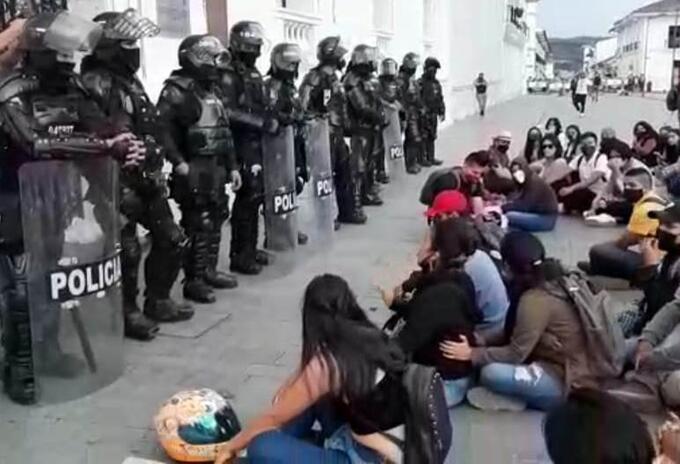 Protesta estudiantes Popayán