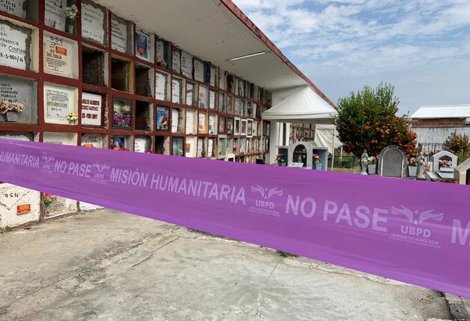 La Unidad de Personas Desaparecidas en cementerio de Puerto Berrío