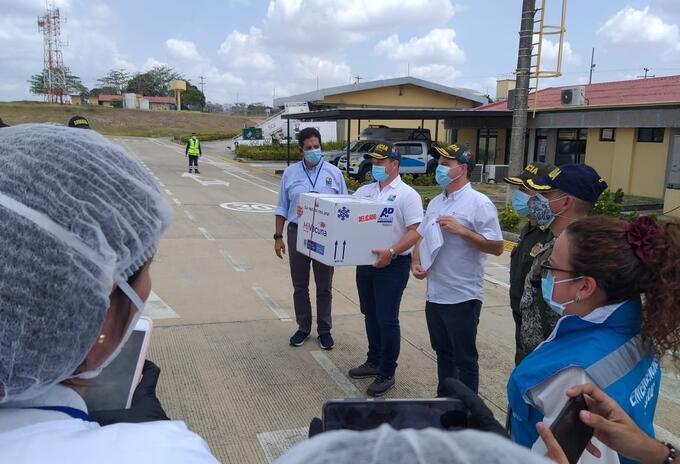 La vacuna llegó procedente de Bogotá.