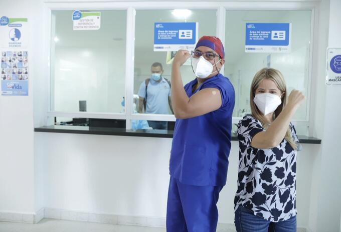 Inicio de vacunación contra el covid en Soledad (Atlántico)