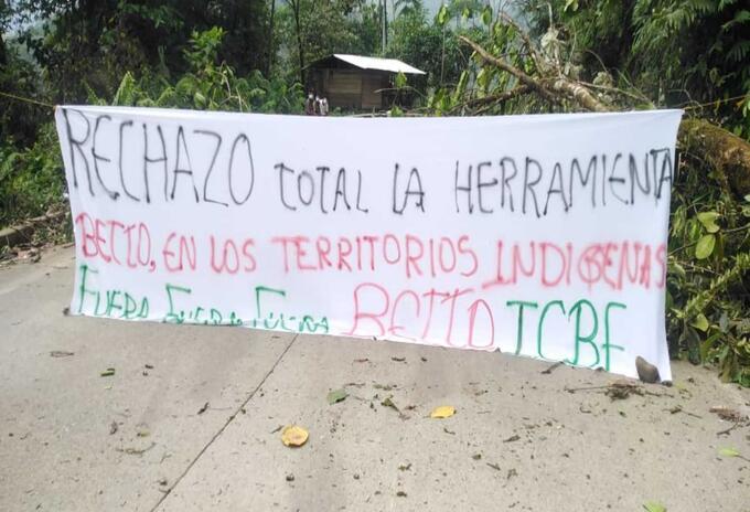 Indígenas bloquearon las principales vías de Chocó.