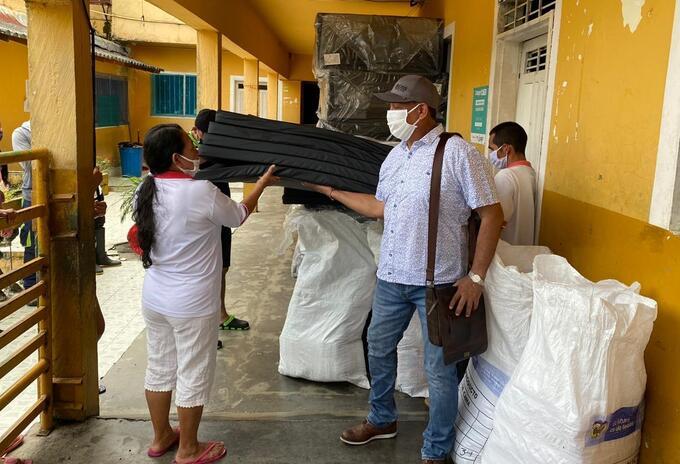 Las familias desplazadas han recibido ayudas humanitarias.