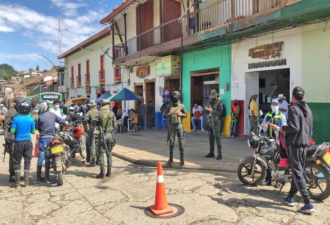 Controles en Urrao, Antioquia, donde hubo elecciones atípica