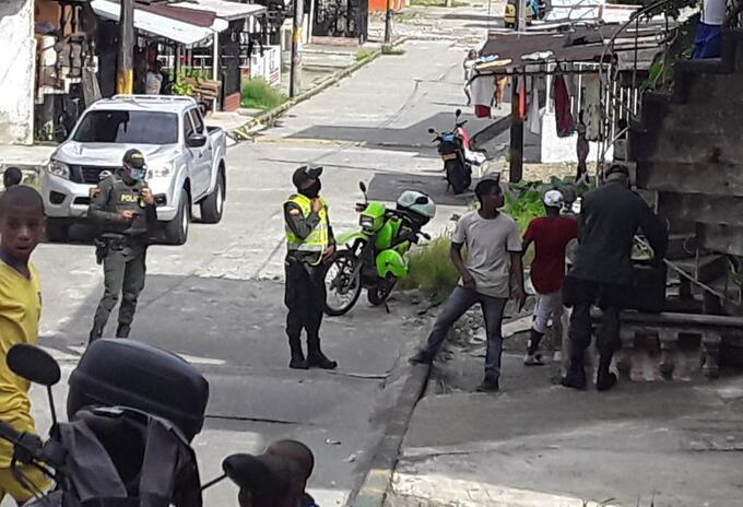 La Policía atendió a los menores afectados
