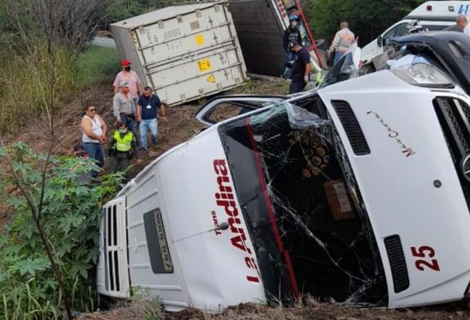 Accidente en vías del Valle