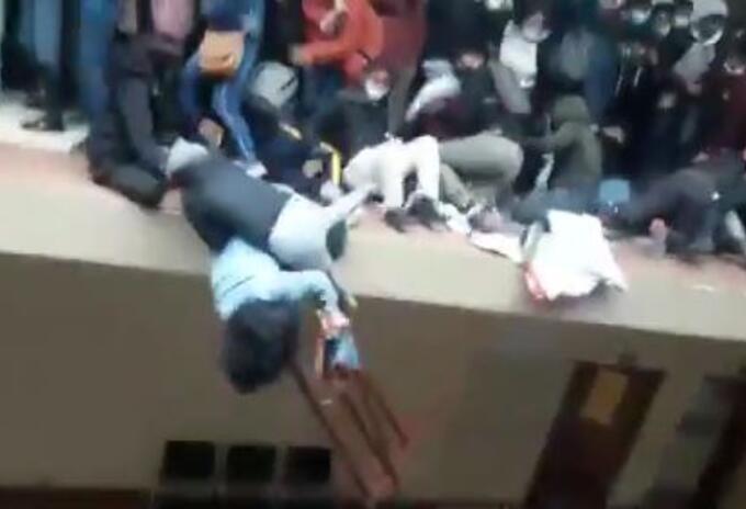 Trágico accidente en una universidad de Bolivia