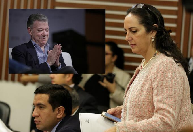 María Fernanda Cabal y Juan Manuel Santos