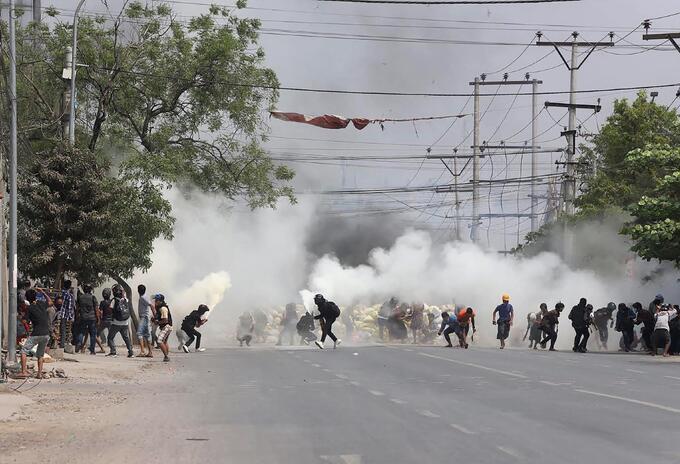 Muertos en protestas en Birmania