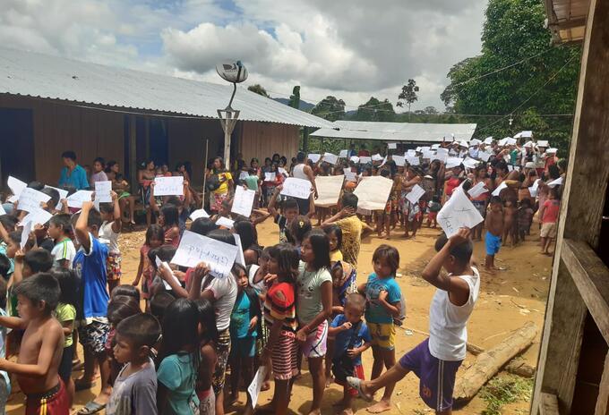 Menores de edad confinados en Chocó.