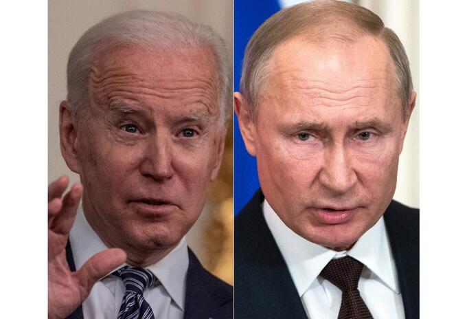 Joe Biden y Vladimir Putin, presidentes de EE.UU. y Rusia