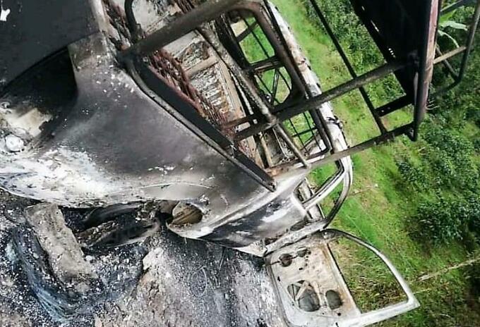 Incineran vehículo de transporte público en zona rural de Neiva