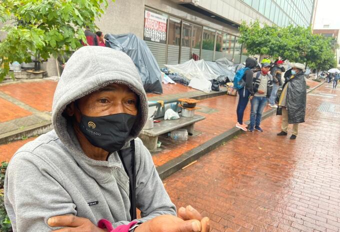 Kennedy, uno de los campesinos desplazados de Buenaventura que llegó a Bogotá.