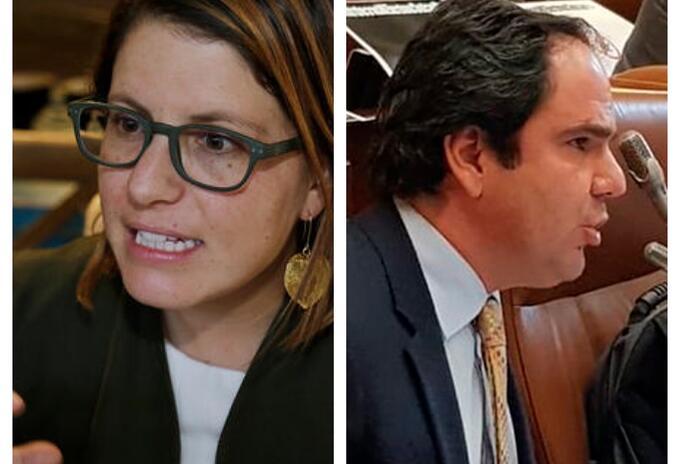 Juanita Goebertus y Gabriel Vallejo en discusión por la equidad de género