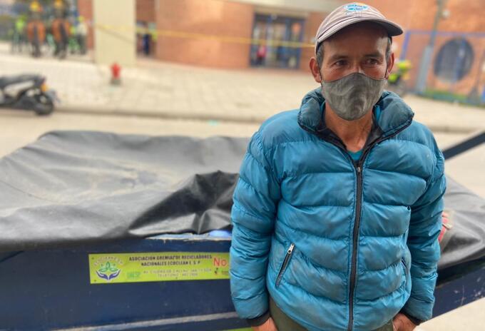 Libardo, uno de los 37 mil recicladores que tiene Colombia.