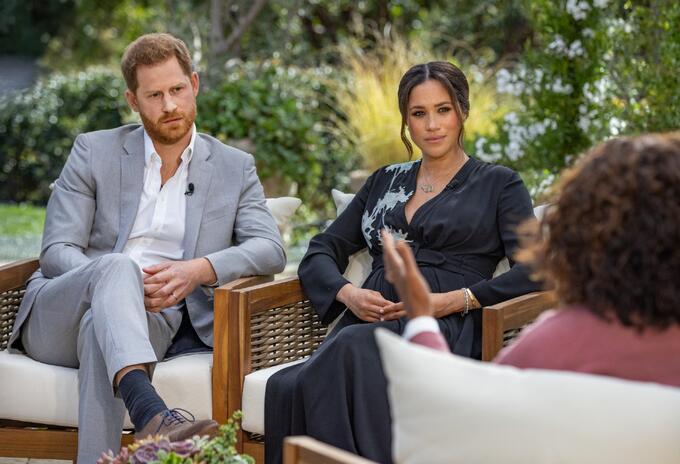 Meghan Markle y Harry en entrevista con Oprah Winfrey