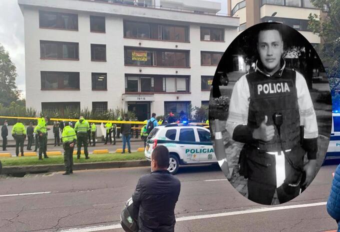 Rechazan muerte del patrullero Edwin Caro en el norte de Bogotá