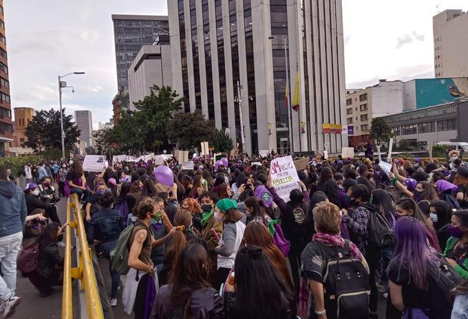 Marchas de mujeres el 8 de marzo en Bogotá