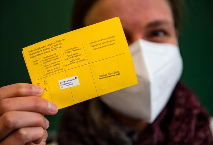 Certificados de vacunación en Europa