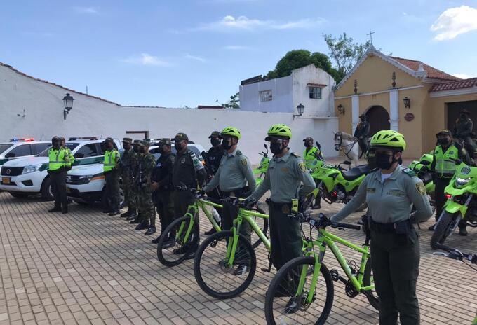 Más de 1.500 policías custodiarán los municipios de Bolívar durante la semana santa