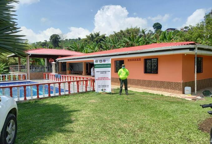 Los bienes que fueron ocupados se encuentran en 14 municipios de siete departamentos del país.